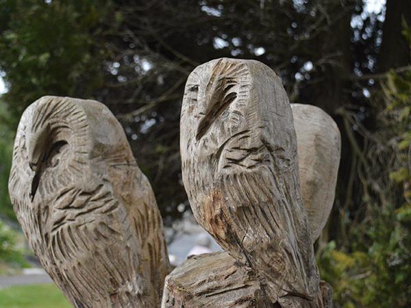 Kinson Project owl sculpture