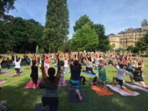 Bournemouth park yoga
