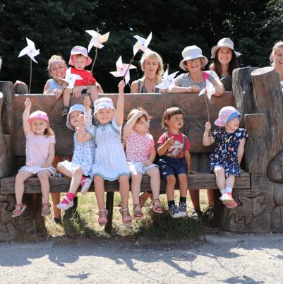 Children and Parents Celebrating